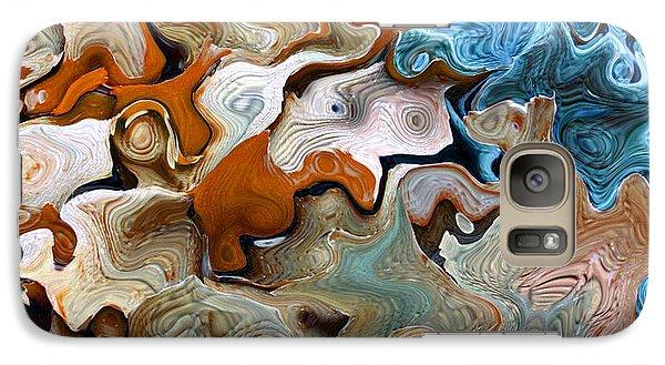Galaxy Case featuring the digital art Beach Abstract Art by Annie Zeno