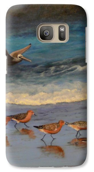 Galaxy Case featuring the painting Beach Birds by Catherine Hamill