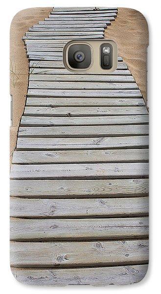 Galaxy Case featuring the photograph Beach Boardwalk by Randy Pollard