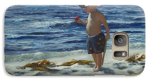 Galaxy Case featuring the painting Beach Boy by Jeanette French