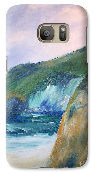 Galaxy Case featuring the painting Beach California by Eric  Schiabor
