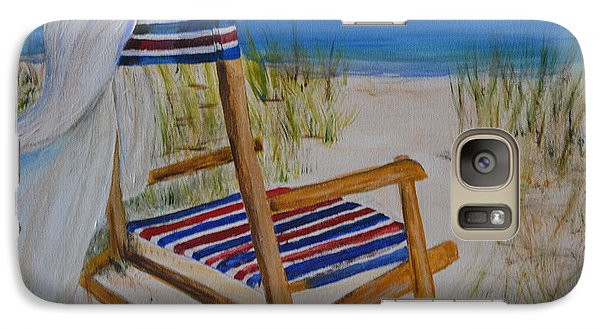 Galaxy Case featuring the painting Beach Chair by Debbie Baker