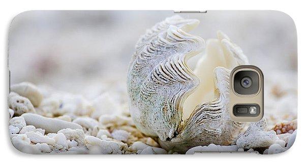 Beach Clam Galaxy Case by Sean Davey