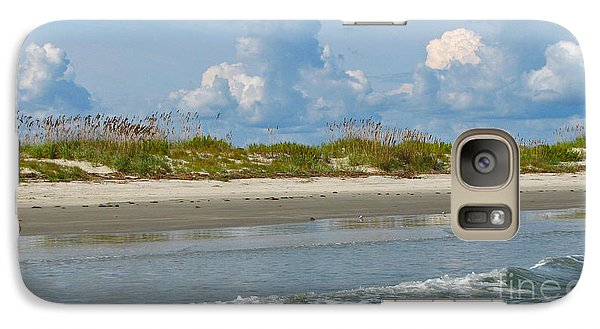 Galaxy Case featuring the photograph Beach Clouds by Val Miller