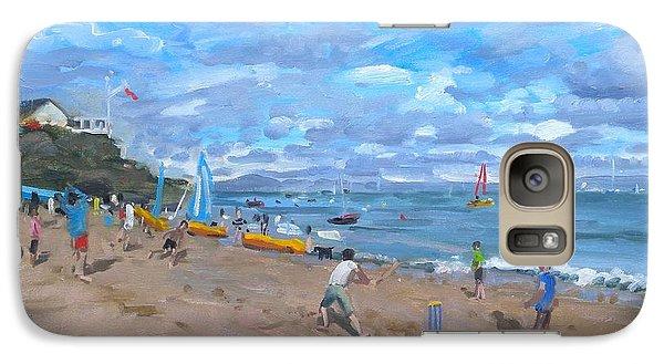 Beach Cricket Galaxy Case by Andrew Macara