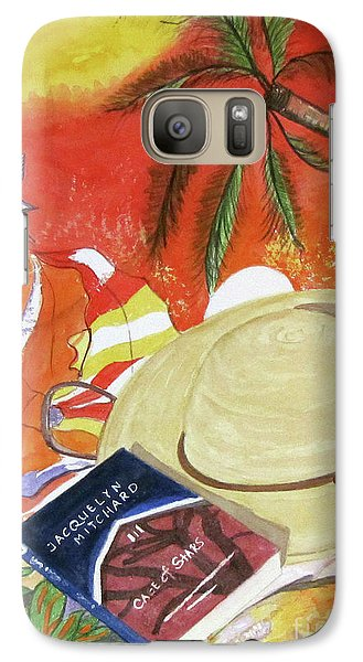 Galaxy Case featuring the painting Beach Day by Carol Flagg
