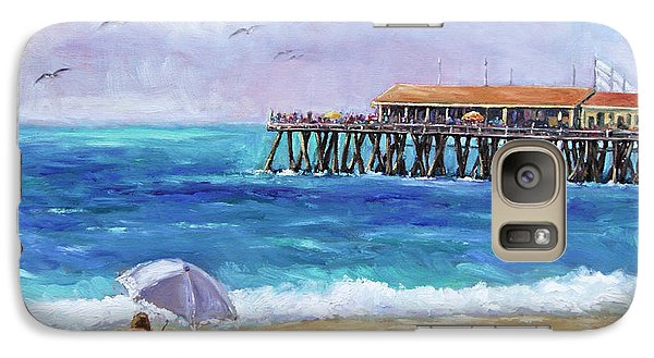 Galaxy Case featuring the painting Beach Day by Jennifer Beaudet