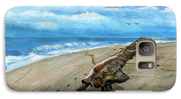 Galaxy Case featuring the painting Beach Drift Wood by Melly Terpening