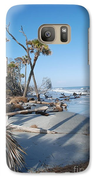 Galaxy Case featuring the photograph Beach Erosion by Kathy Gibbons