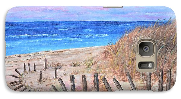 Galaxy Case featuring the painting Beach Fence by Debbie Baker