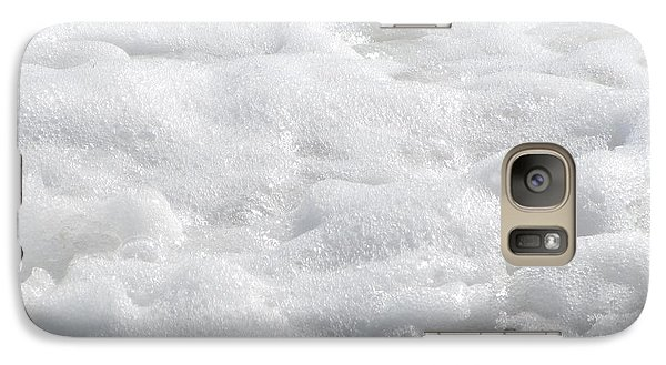 Galaxy Case featuring the photograph Beach Foam by Cathy Lindsey