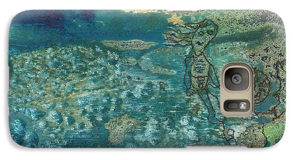 Galaxy Case featuring the mixed media Beach Friends Flotsam And Jetsam by Catherine Redmayne