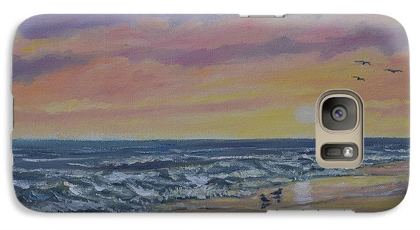 Galaxy Case featuring the painting Beach Glow By K. Mcdermott by Kathleen McDermott