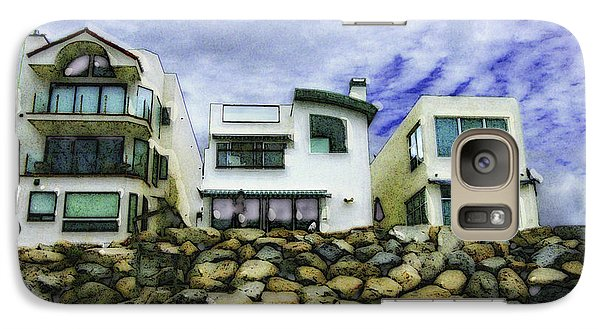 Galaxy Case featuring the digital art Beach Houses In Oceanside by Rhonda Strickland