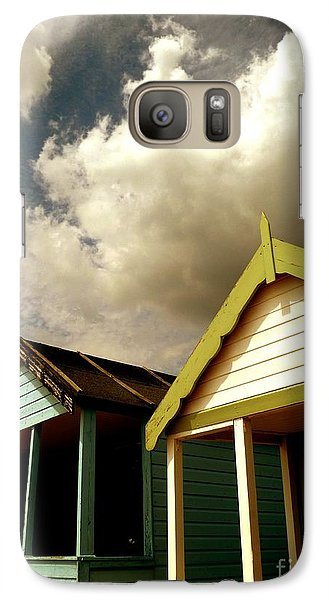 Galaxy Case featuring the photograph Beach Huts by Vicki Spindler