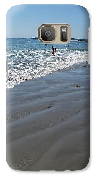 Galaxy Case featuring the photograph beach in Maine by Rose Wang