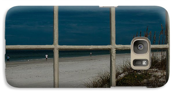Galaxy Case featuring the photograph Beach Lookout by Randy Sylvia
