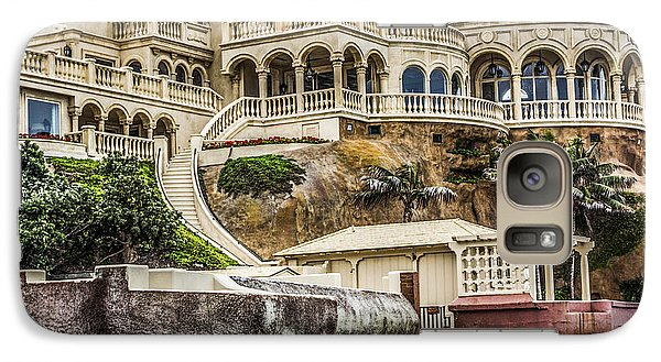 Galaxy Case featuring the digital art 00003 La Jolla Beach Mansion by Photographic Art by Russel Ray Photos