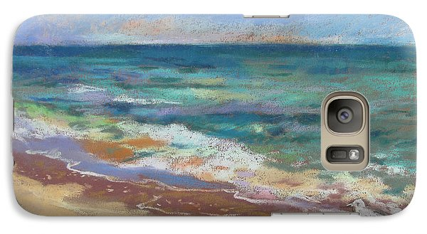 Galaxy Case featuring the painting Beach Meditation by Linda Novick
