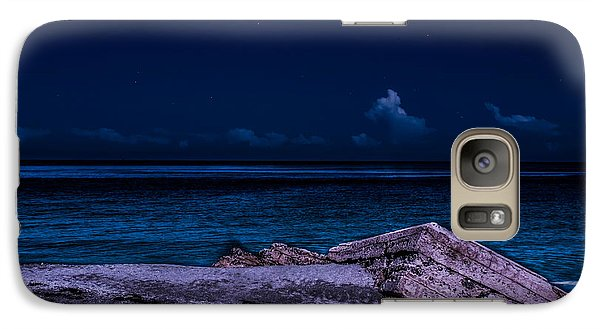 Galaxy Case featuring the photograph Beach Night by Randy Sylvia