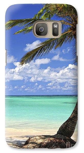 Beach Of A Tropical Island Galaxy S7 Case