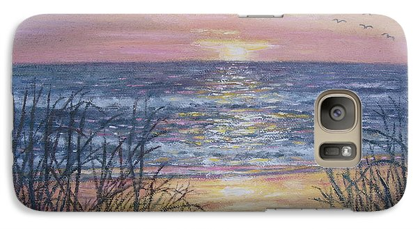 Galaxy Case featuring the painting Beach Razzle Dazzle by Kathleen McDermott