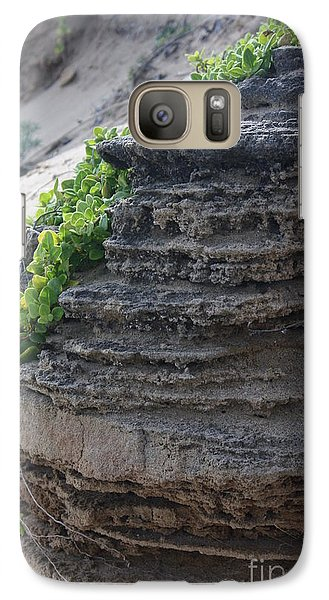 Galaxy Case featuring the photograph Beach Rocks And Vines by Amanda Holmes Tzafrir