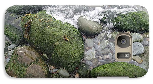 Galaxy Case featuring the photograph Beach Rocks by Robert Nickologianis