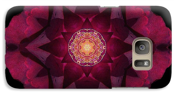 Galaxy Case featuring the photograph Beach Rose I Flower Mandala by David J Bookbinder