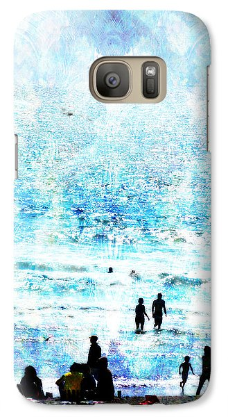 Galaxy Case featuring the photograph Beach Scene Expressions by John Fish