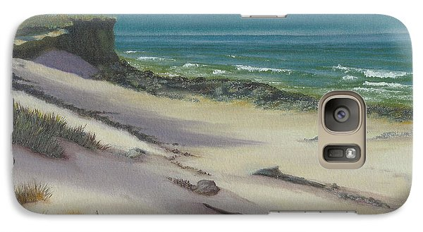 Galaxy Case featuring the painting Beach Shadows by Jeanette French