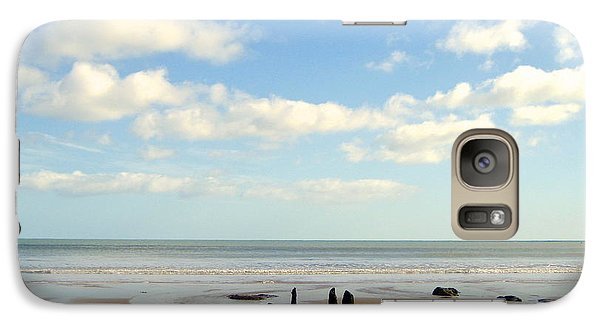 Galaxy Case featuring the photograph Beach Skies by Suzanne Oesterling