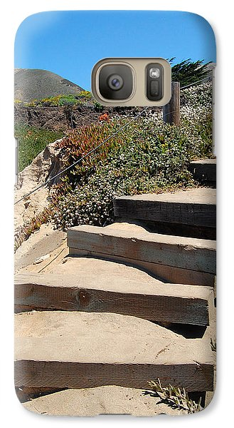 Galaxy Case featuring the photograph Beach Stairs Big Sur by Debra Thompson