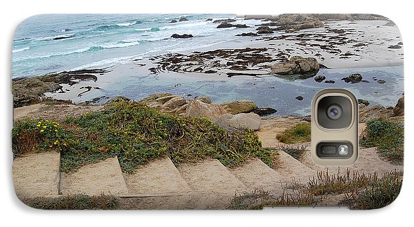 Galaxy Case featuring the photograph Descending To The Beach Monterey by Debra Thompson