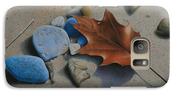 Galaxy Case featuring the painting Beach Still Life II by Pamela Clements