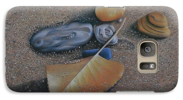 Galaxy Case featuring the painting Beach Still Life IIi by Pamela Clements