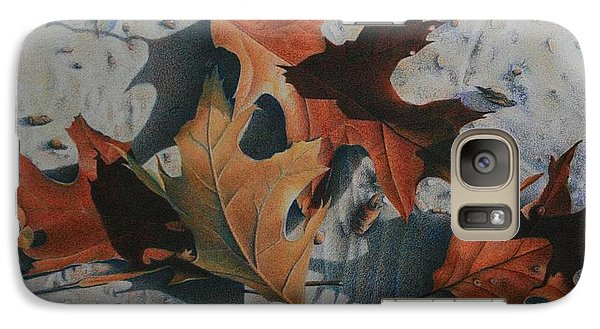 Galaxy Case featuring the painting Beach Still Life by Pamela Clements