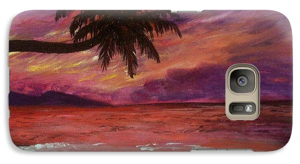 Galaxy Case featuring the painting Beach Sunset by Debbie Baker