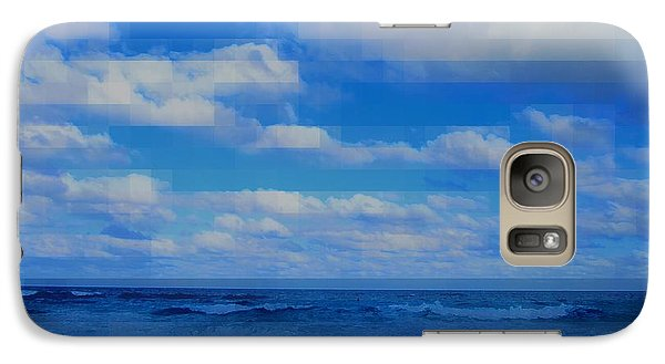 Galaxy Case featuring the painting Beach Through Artificial Eyes by David Mckinney
