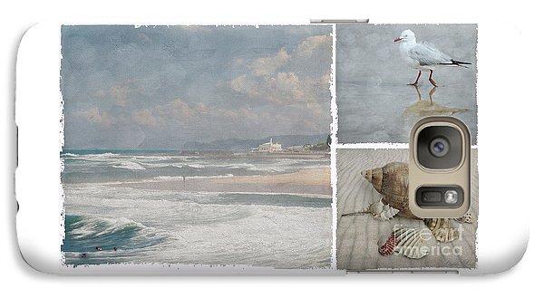 Beach Triptych 1 Galaxy S7 Case by Linda Lees