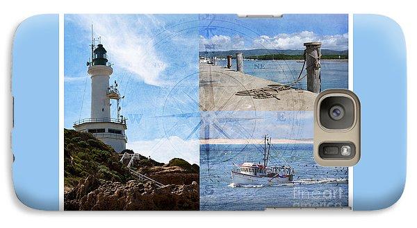 Beach Triptych 2 Galaxy S7 Case by Linda Lees