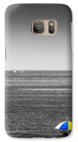 Galaxy Case featuring the photograph Beach Umbrella by Rafael Quirindongo