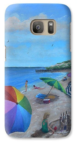 Galaxy Case featuring the painting Beach Umbrellas by Catherine Hamill