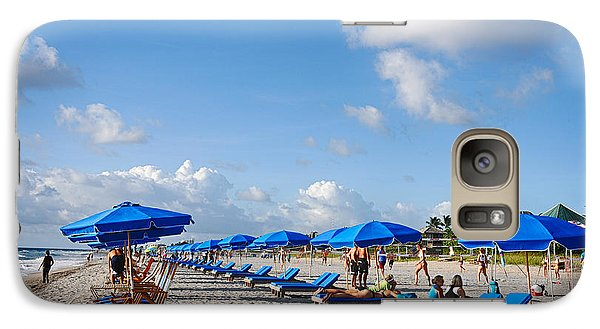 Galaxy Case featuring the photograph Beach Umbrellas by Don Durfee