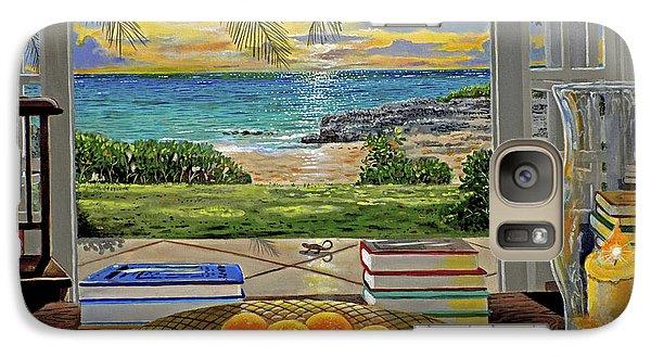 Beach View Galaxy Case by Carey Chen