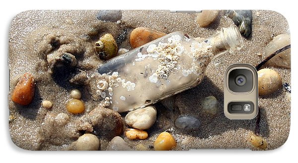 Galaxy Case featuring the photograph Beached Bottle by Karen Silvestri