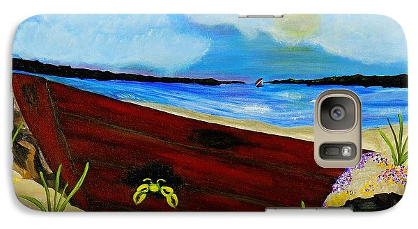 Galaxy Case featuring the painting Beached by Celeste Manning