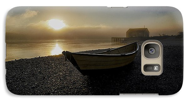 Galaxy Case featuring the photograph Beached Dory In Lifting Fog  by Marty Saccone