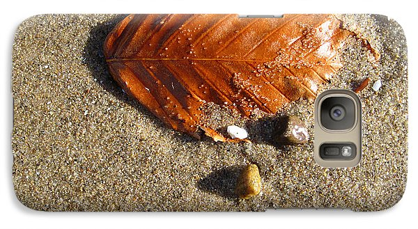 Galaxy Case featuring the photograph Beached Leaf by Mary Bedy