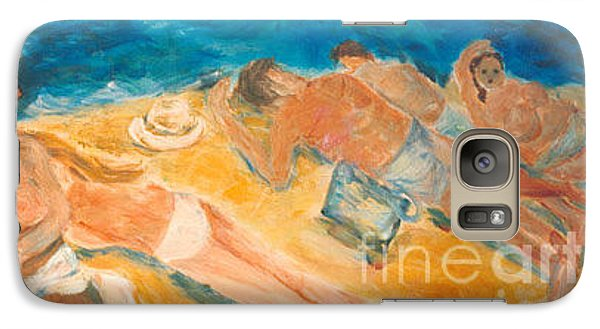 Galaxy Case featuring the painting Beachscape   by Fereshteh Stoecklein